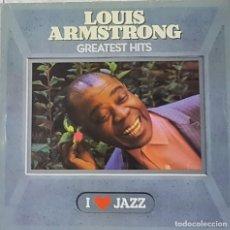Discos de vinilo: == LP10 - LOUIS ARMSTRONG - GREATEST HITS - I LOVE JAZZ. Lote 137822990