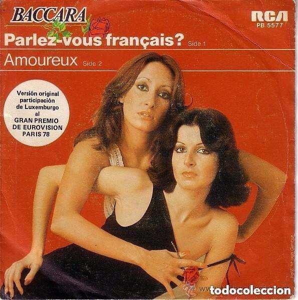 BACCARA - PARLEZ-VOUS FRANÇAIS? / AMOUREUX - SINGLE RCA 1978 REEDICION (Música - Discos - Singles Vinilo - Festival de Eurovisión)