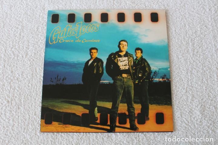GATOS LOCOS: CRUCE DE CAMINOS - LP. GRABACIONES ACCIDENTALES 1991 (CON ENCARTE) (Música - Discos - LP Vinilo - Grupos Españoles de los 70 y 80)