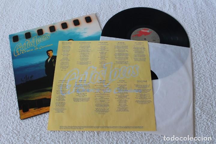 Discos de vinilo: GATOS LOCOS: CRUCE DE CAMINOS - LP. GRABACIONES ACCIDENTALES 1991 (CON ENCARTE) - Foto 2 - 137835406