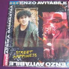 Discos de vinilo: ENZO AVITABILE AND AFRIKA BAMBAATAA ‎MAXI SINGLE BLANCO Y NEGRO 1989 - STREET HAPPINESS - FUNK RAP . Lote 137842958