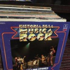 Discos de vinilo: THE ROLLING STONES HISTORIA DE LA MUSICA ROCK LP. Lote 137851090