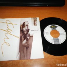 Discos de vinilo: KYLIE MINOGUE WORD IS OUT / SAY THE WORD I´LL BE THERE SINGLE VINILO PROMO 1991 ESPAÑA 2 TEMAS RARO. Lote 137853446