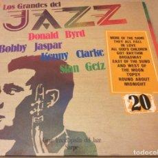Discos de vinilo: LOS GRANDES DEL JAZZ 20. DONALD BYRD / BOBBY JASPAR / KENNY CLARKE / STAN GETZ. SARPE 1980.. Lote 137867430
