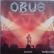 Discos de vinilo: OBUS – EN DIRECTO 21-2-87 - DOUBLE 2X LP VINYL LIVE - 1987 SPAIN ( MURO, CROM, HADES). Lote 137887350