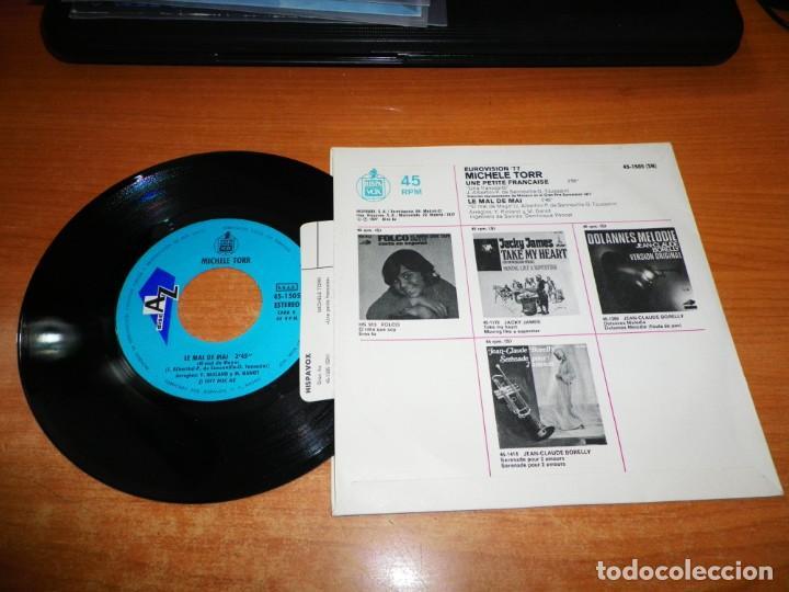 Discos de vinilo: MICHELLE TORR Une petite française EUROVISION MONACO 1977 SINGLE VINILO 1977 ESPAÑA PESTAÑA 2 TEMAS - Foto 2 - 137890510