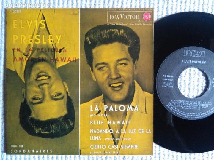 ELVIS PRESLEY WITH THE JORDANAIRES '' LA PALOMA + 3 '' EP 7'' REISSUE SPAIN 1987 (Música - Discos de Vinilo - EPs - Rock & Roll)