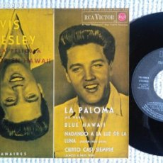 Discos de vinilo: ELVIS PRESLEY WITH THE JORDANAIRES '' LA PALOMA + 3 '' EP 7'' REISSUE SPAIN 1987. Lote 137891290