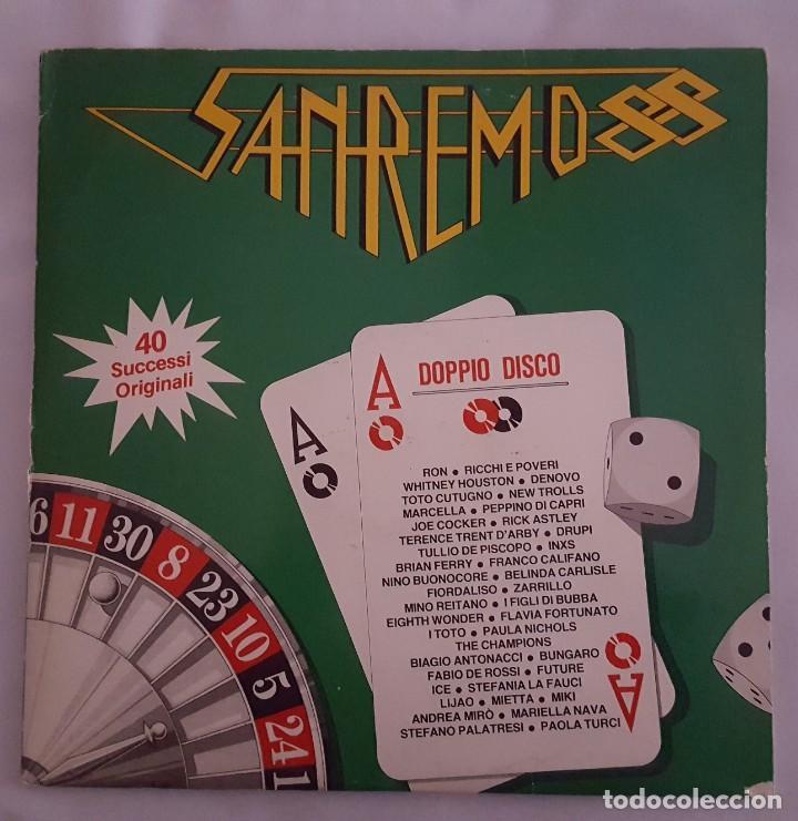 LP DOBLE / SANREMO 88 / RCA PL 71664 / 1988 / ITALIA (Música - Discos - LP Vinilo - Otros Festivales de la Canción)