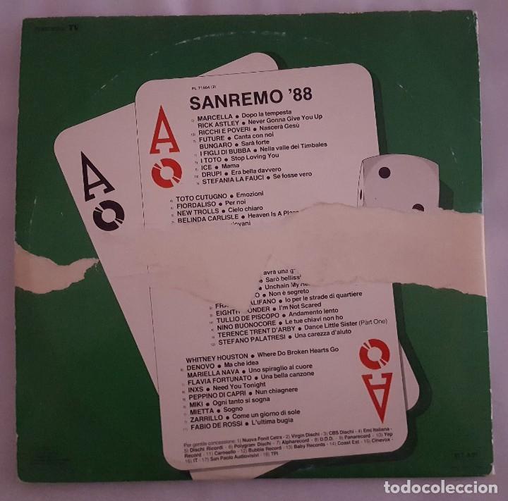Discos de vinilo: LP DOBLE / SANREMO 88 / RCA PL 71664 / 1988 / ITALIA - Foto 2 - 137891982
