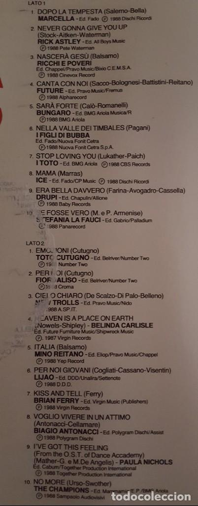 Discos de vinilo: LP DOBLE / SANREMO 88 / RCA PL 71664 / 1988 / ITALIA - Foto 4 - 137891982