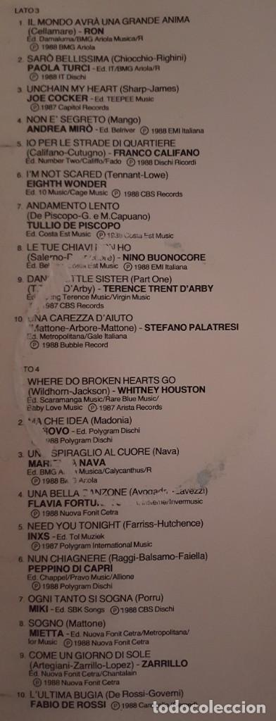 Discos de vinilo: LP DOBLE / SANREMO 88 / RCA PL 71664 / 1988 / ITALIA - Foto 5 - 137891982