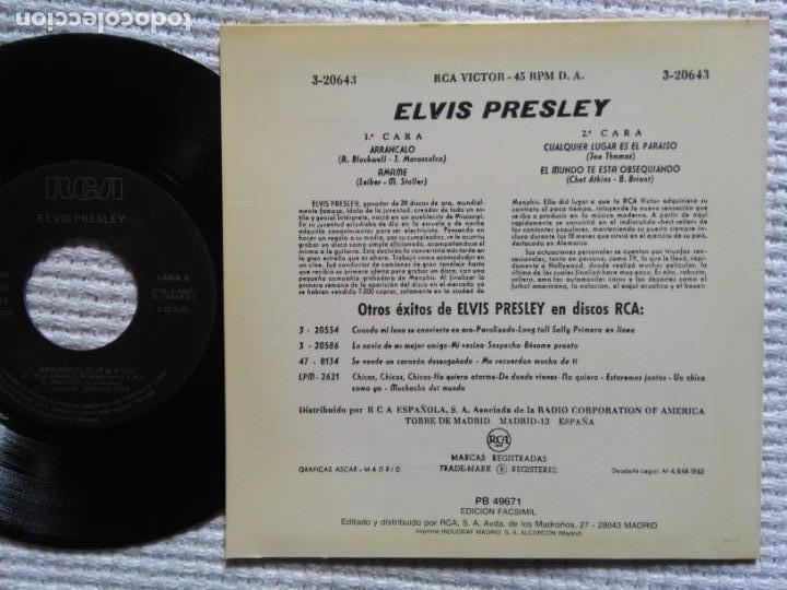 Discos de vinilo: ELVIS PRESLEY ARRANCALO + 3 EP 7 REISSUE SPAIN 1987 - Foto 2 - 137892002