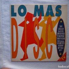 Discos de vinilo: LO MAS DISCO_DEPECHE MODE,SNAP,GURU JOSH,TECHNOTRONIC_DOBLE LP 12'' EDICION ESPAÑOLA_1990. Lote 137895994