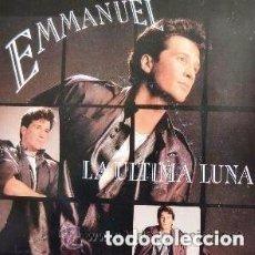 Discos de vinilo: EMMANUEL - LA ULTIMA LUNA - EN LA NOCHE - SINGLE RCA SPAIN 1988. Lote 137897518