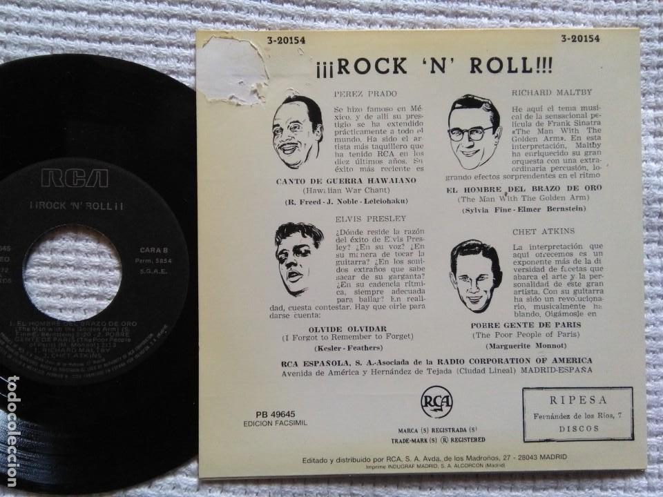 Discos de vinilo: ELVIS PRESLEY PEREZ PRADO CHET ATKINS - ¡¡ROCK AND ROLL!! EP 7 REISSUE SPAIN 1987 - Foto 2 - 137898034