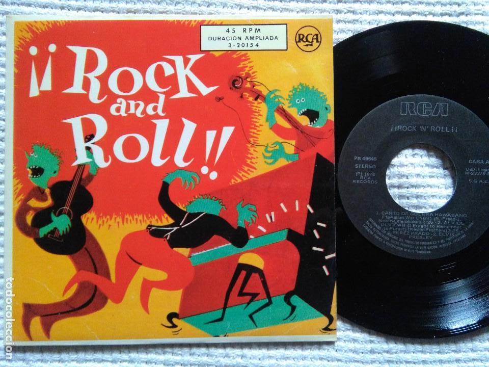 ELVIS PRESLEY PEREZ PRADO CHET ATKINS - '' ¡¡ROCK AND ROLL!! '' EP 7'' REISSUE SPAIN 1987 (Música - Discos de Vinilo - EPs - Rock & Roll)