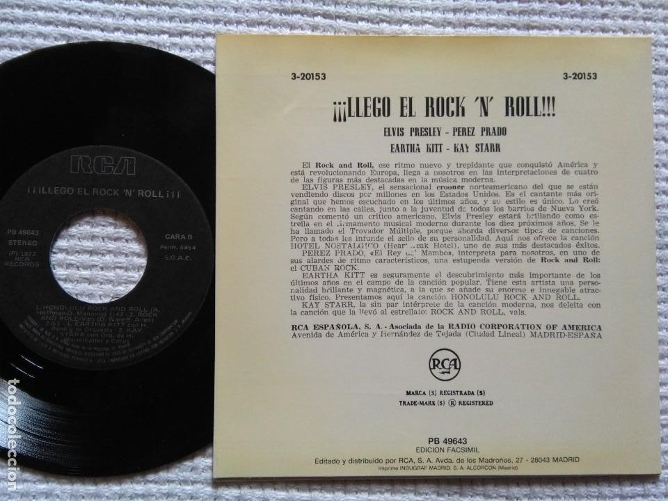 Discos de vinilo: ELVIS PRESLEY PEREZ PRADO EARTHA KITT - ¡¡LLEGO EL ROCK AND ROLL!! EP 7 REISSUE SPAIN 1987 - Foto 2 - 137898666
