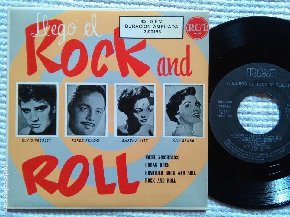 ELVIS PRESLEY PEREZ PRADO EARTHA KITT - '' ¡¡LLEGO EL ROCK AND ROLL!! '' EP 7'' REISSUE SPAIN 1987 (Música - Discos de Vinilo - EPs - Rock & Roll)