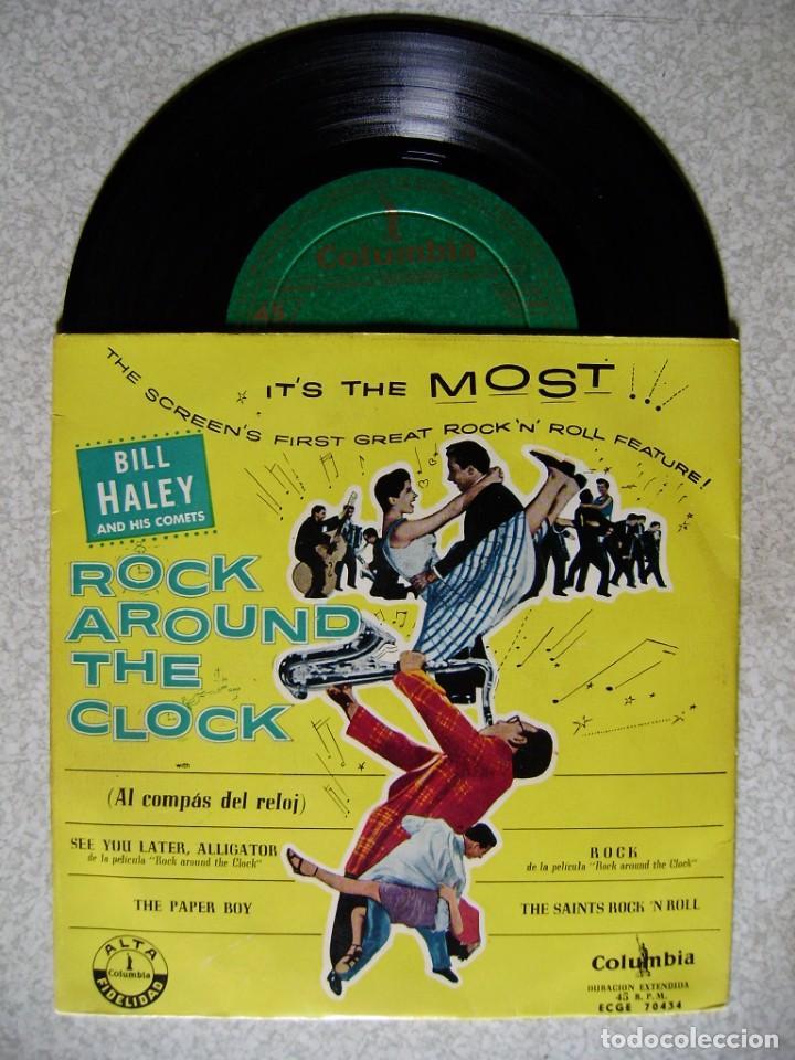 BILL HALEY.ROCK AROUND THE CLOCK..SEE YOU LATER,ALLIGATOR + 3...1ª EDICION ESPÀÑOLA EX..NO OFERTAS (Música - Discos de Vinilo - EPs - Rock & Roll)