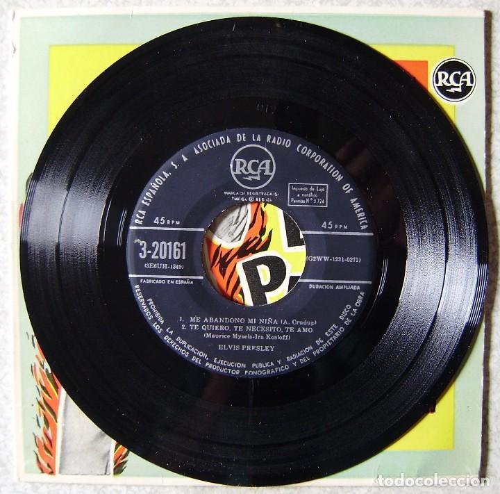Vinyl-Schallplatten: ELVIS PRESLEY Y EL ROCK AND ROLL.ME ABANDONO MI NIÑA + 3.1ª EDICION ESPAÑOLA..EX. - Foto 3 - 137902094