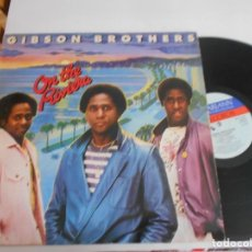 Discos de vinilo: GIBSON BROTHERS –LP ON THE RIVIERA. Lote 137902746