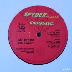 Discos de vinilo: ASTEROID - JOKE TO WIN ,SPYDER RECORDS. Lote 137907766