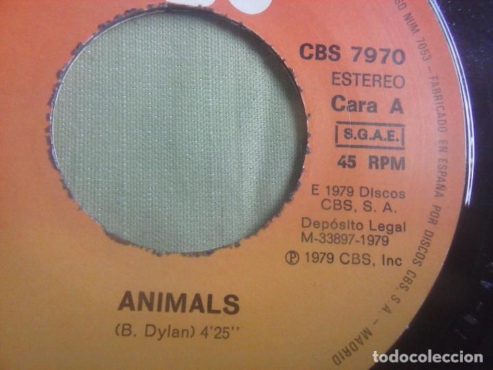 Discos de vinilo: Single Vinilo Bob Dylan - Animals. Año 1979. - Foto 3 - 137916342