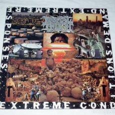 Discos de vinilo: LP BRUTAL TRUTH - EXTREME CONDITIONS DEMANDS EXTREME RESPONSES. Lote 116586503