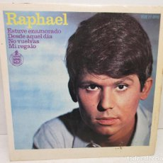 Discos de vinilo: DISCO DE VINILO SINGLE RAPHAEL ESTUVE ENAMORADO, HISPABOX 1966. Lote 137942166