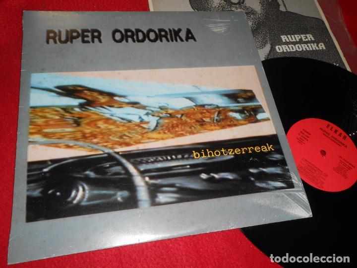 RUPER ORDORIKA BIHOTZERREAK LP 1985 ELKAR EDICION ESPAÑOLA SPAIN (Música - Discos - LP Vinilo - Solistas Españoles de los 70 a la actualidad)
