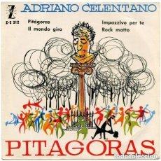 Discos de vinilo: ADRIANO CELENTANO – PITÁGORAS - EP ZAFIRO 1964. Lote 287840153