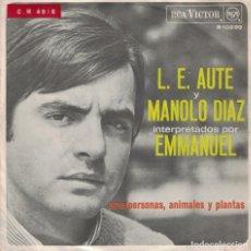 Discos de vinilo: EMMANUEL - AMA / PERSONAS, ANIMALES Y PLANTAS (SINGLE ESPAÑOL, RCA 1967). Lote 137977334