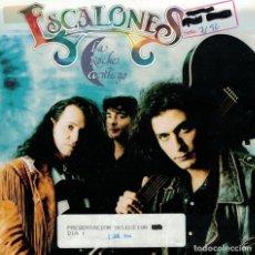 Discos de vinilo: ESCALONES - LA NOCHE CONTIGO / CAMBIO DE BAR (SINGLE PROMO ESPAÑOL, MAX MUSIC 1992). Lote 137980674