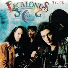 Discos de vinilo: ESCALONES - LA NOCHE CONTIGO / CAMBIO DE BAR (SINGLE PROMO ESPAÑOL, MAX MUSIC 1992). Lote 137980826