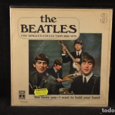 Discos de vinilo: THE BEATLES - THE SINGLES COLLECTION 1962/1970 - SHE LOVES YOU - I WANT TO HOLD YOUR HAND - SINGLE. Lote 137993278