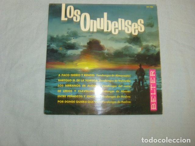 DISCO EPS. LOS ONUBENSES (Música - Discos de Vinilo - EPs - Flamenco, Canción española y Cuplé)