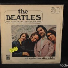 Discos de vinilo: THE BEATLES - THE SINGLES COLLECTION 1962/1970 - ALL TOGETHER NOW / HEY BULLDOG - SINGLE. Lote 138014066