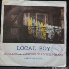 Discos de vinilo: LOCAL BOY - THRILLER - OWNER OF A LONELY HEART - SINGLE - ESPAÑA - POLYDOR -1984-YES-MICHAEL JACKSON. Lote 138068190