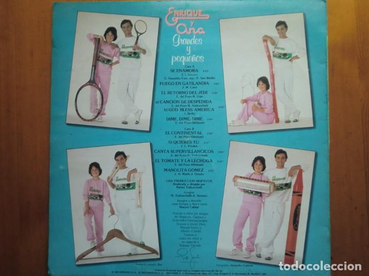 Discos de vinilo: LP ENRIQUE Y ANA: GRANDES Y PEQUEÑOS (1983) Buen estado - Foto 2 - 290144083