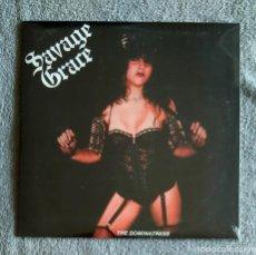 Discos de vinilo: SAVAGE GRACE - THE DOMINATRESS 12'' MINI LP NUEVO Y PRECINTADO - SPEED METAL HEAVY METAL. Lote 138080190