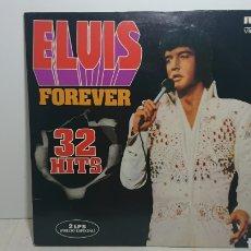 Discos de vinilo: ELVIS FOREVER 32 HITS DOBLE LP VINILO. Lote 138095710
