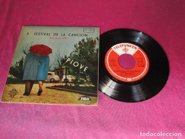 PIONE FESTIVAL DE LA CANCION SAN REMO 1959 (Música - Discos - Singles Vinilo - Pop - Rock Extranjero de los 50 y 60)
