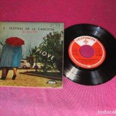 Discos de vinilo: PIONE FESTIVAL DE LA CANCION SAN REMO 1959. Lote 138101042