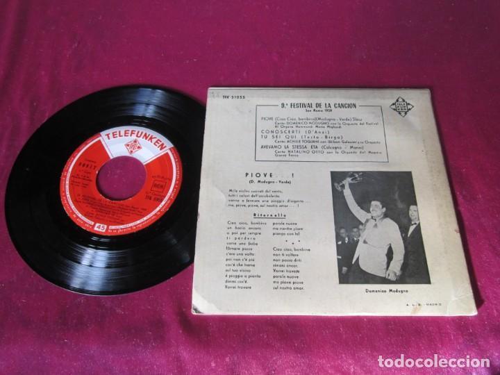 Discos de vinilo: PIONE FESTIVAL DE LA CANCION SAN REMO 1959 - Foto 2 - 138101042