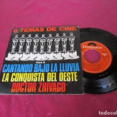 Discos de vinilo: 6 TEMAS DE CINE CARA A CANTANDO BAJO LA LLUVIA LA CONQUISTA DEL OESTE. Lote 138109282