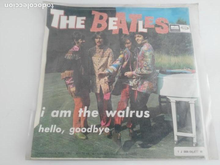 Discos de vinilo: antiguo disco de the beatles hello goodbye - Foto 2 - 138109906