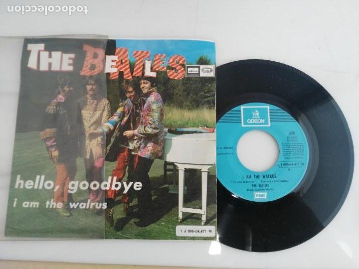 Discos de vinilo: antiguo disco de the beatles hello goodbye - Foto 4 - 138109906