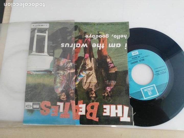 Discos de vinilo: antiguo disco de the beatles hello goodbye - Foto 5 - 138109906