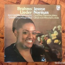 Discos de vinilo: BRAHMS - JESSYE NORMAN, GEOFFREY PARSONS (2), ULRICH VON WROCHEM ?– LIEDER GÉNERO: CLASSICAL . Lote 138110846